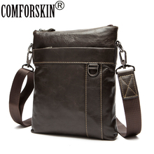 COMFORSKIN Guaranteed 100% Genuine Leather Men Messenger Bags Brand Designer Mens Bag Bolsa Masculina New Arrivals 2018