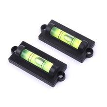 1 Pcs Spirit Bubble Level Green Acrylic ABS Plastics With Hole Hanging Or Magnet Mini Level