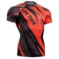 Ropa de Entrenamiento de Manga Corta de los hombres de Compresión Camisa 3D Full Impresión MMA Culturismo Camisetas Equipo de Mens Tee & Top