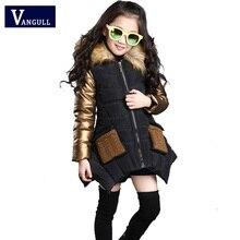 2016 extérieur Coréen enfants automne et hiver chandail manteau, mignon enfant enfants épaississement col De Fourrure coat2 couleur manteau