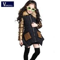 2016 Korean Foreign Children Autumn And Winter Sweater Coat Cute Child Children Thickening Fur Collar Coat2
