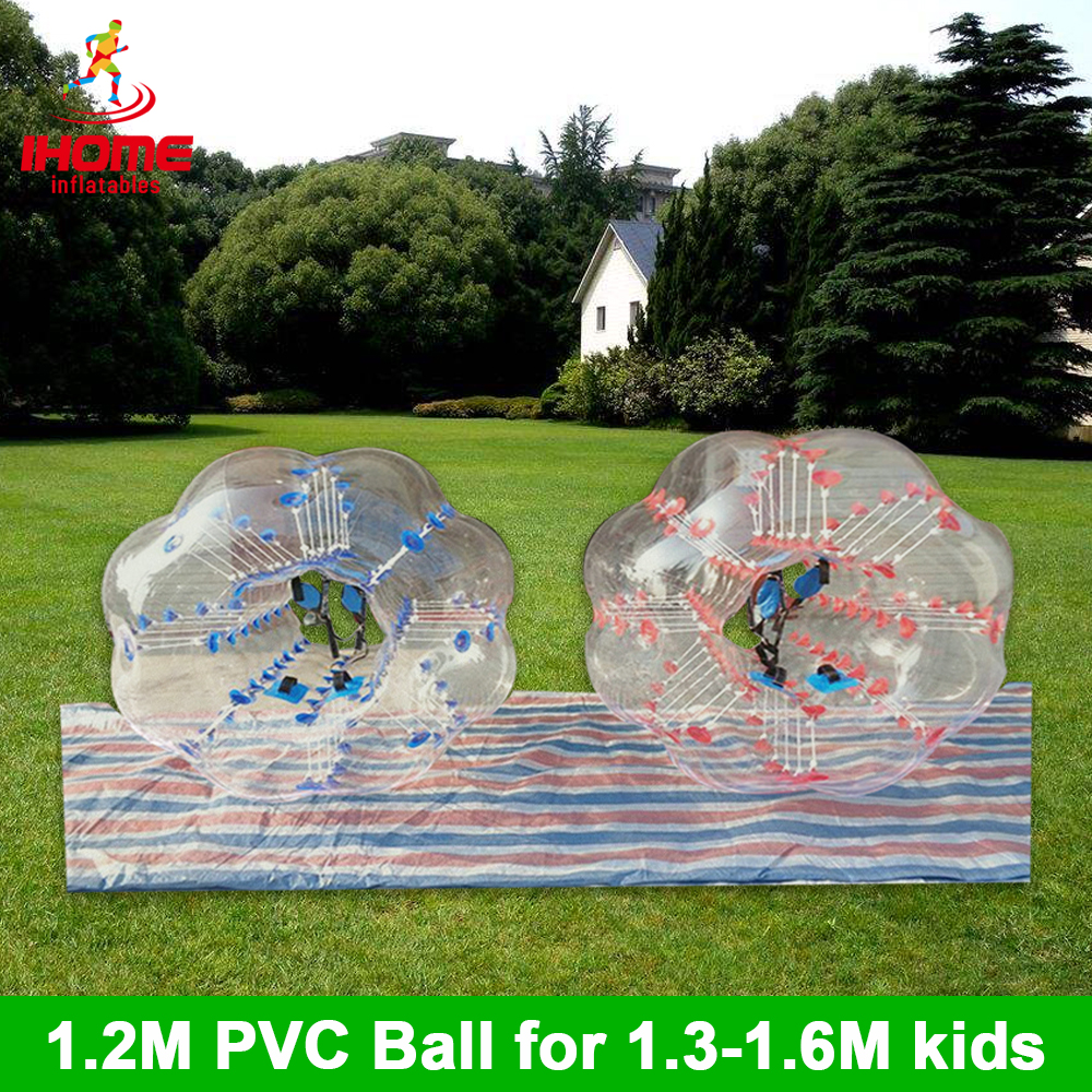 4pcs 1.2M  PVC Inflatable Bubble Soccer Football Ball, Bumper Ball With A Free Foot Pump