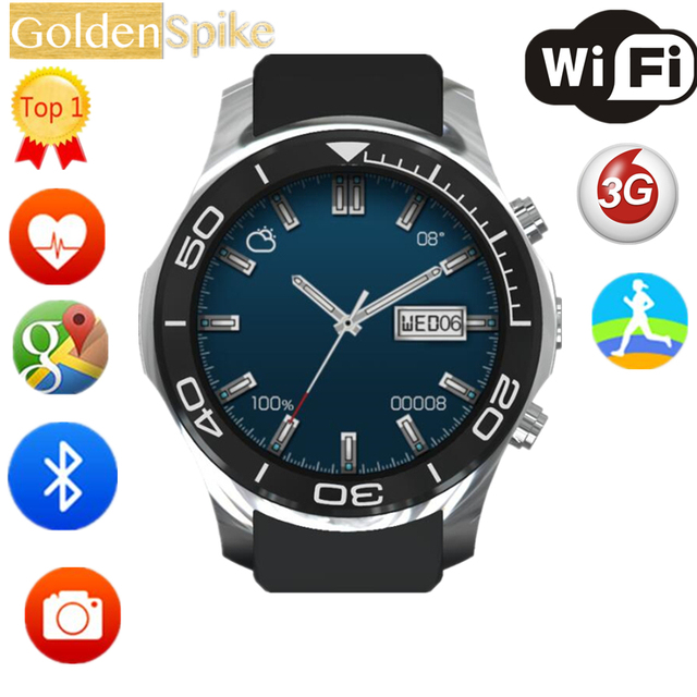S11 Heart Rate Monitor Smart Watch Android Phone Smartwatch With SIM Card Camera WIFI GPS 3G Clock vs kw88  LES1  Watch