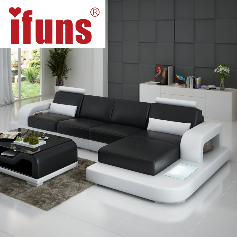 Buy ifuns unique leather sofa living room for Sectional sofa living room layout