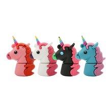 Real Capacity Cartoon Unicorn USB Flash Drives Horse Pen Drive 4GB 8GB 16GB 32GB 64GB 128GB Memory Stick Pendrives