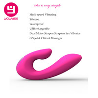 Wowyes Silicone Strapon Strapless Daul Vibrator Sex Toys For Women Couple G Spot Clitoral Massager Lay On Vibrator Erotic Toys