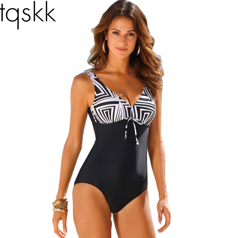 2016 New Arrival One Piece Swimsuit Women Vintage Bathing Suits Plus Size Swimwear Beach Padded Print