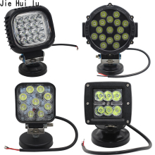 Car Work LED Light Bar 27W 51W 48W Spot Beam 12v 24v Led For Jeep ATV UAZ SUV 4WD 4x4 Truck Tractor Off-road Spotlight