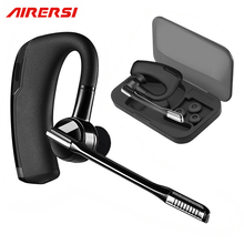 2017 Terbaru K6 Bisnis Bluetooth Earphone Headphone Stereo Wireless Handsfree Car Driver Bluetooth Headset dengan Kotak Penyimpanan
