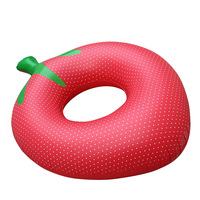 Cute Strawberry Swim Ring Adult Floating Swimming Cirle Inflatable Pool Floats
