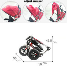 CANCHN Portable Baby Ride Car, Fold Kids Tricycle, children bicycle