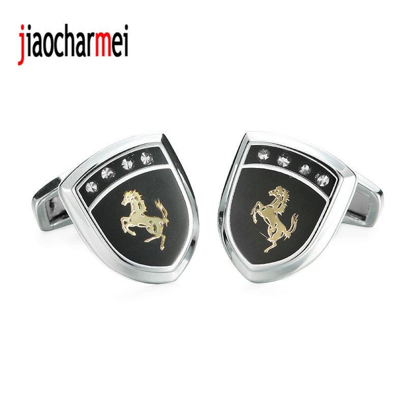 High quality mens suits new fashion boutique brand Cufflinks car logo horse cufflinks, 12 pairs of wholesale sales