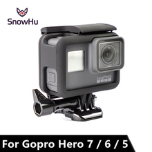 цена на SnowHu for GoPro Hero 7 6 5 Frame Mount Protective Border frame Case for Black Camera Go Pro Hero 7 6 5 Accessories LD03