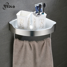 Купить с кэшбэком Stainless Steel /Plastic Rack For Shampoo Holder Shower Basket Put The Towel In Shower Shelf Blow Dryer Holder Bathroom Rack