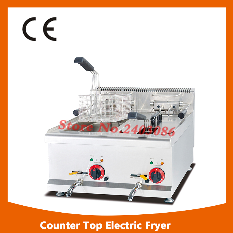цены Commerical electric tabletop double tank potato chips deep fryer/Chicken wing deep fryer