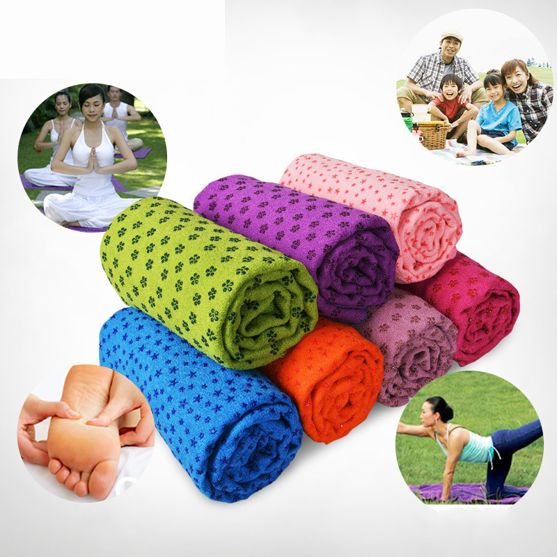 2019 New 5 Color yoga mat 183cm*61cm Multifunction Non Slip Cover Anti Skid Microfiber Yoga Mats Shop Towels A image
