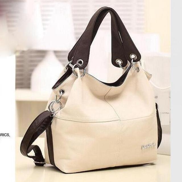 2019 New Fashion Women Versatile Handbag Soft PU Leather bags Zipper messenger bag Splice Vintage Shoulder Crossbody Bags DJZ293