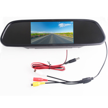 """5.0 """"5.0 pollice TFT LCD A Colori Car Rear View Monitor Specchio Video Lettore DVD Car Audio Auto Per Auto macchina Fotografica di inverso"""