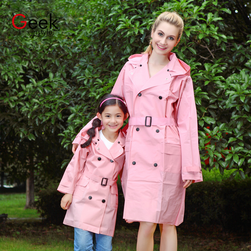 2016 NEW  UNIQUE Fashion  Solid Color  Belt  Raincoat EVA Plastic Rain Gear  Waterproof Rainwear Adult Poncho Outdoor Rain Coat  benkia motorcycle rain coat two piece raincoat suit riding rain gear outdoor men women camping fishing rain gear poncho