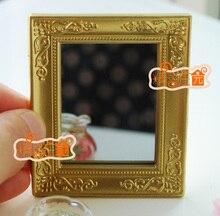 MINI dollhouse miniature Mini furniture accessories for Roman gold framed mirror good workmanship