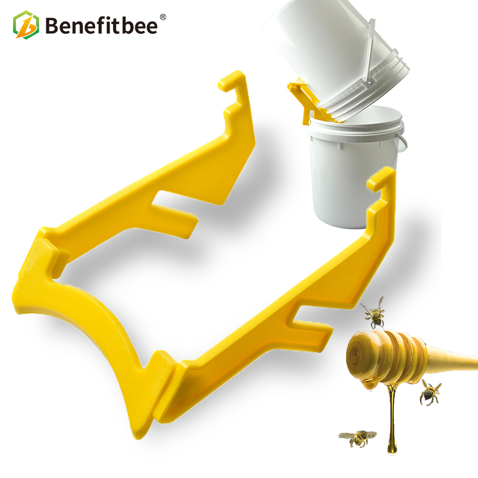 Benefitbee 1Pcs Honey Bucket Bracket New Plastic Material Beekeeping Tool Honey Tank Plastic Honey Pail Stand Support Apiculture