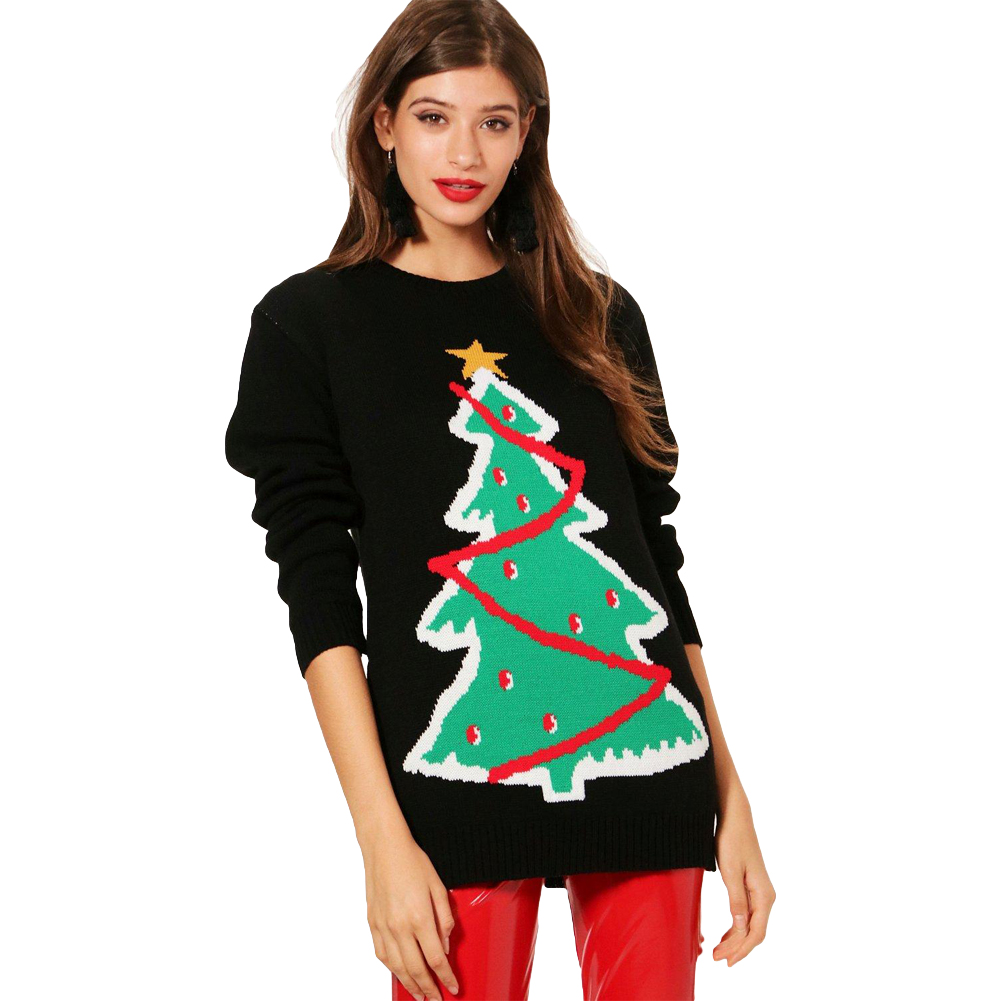 Christmas Tree Sweater Womens: Aliexpress.com : Buy Women Knitted Sweater Crochet