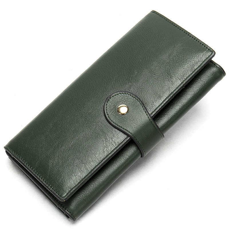 Nesitu wysokiej jakości rocznika długo czerwony, zielony, niebieski, złoty prawdziwej skóry mężczyzna kobiet portfele Clutch Bag kobiet torebki M8303