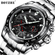 BOYZHE Mens Watches Top Brand Luxury Fashion Wristwatch Waterproof Automatic