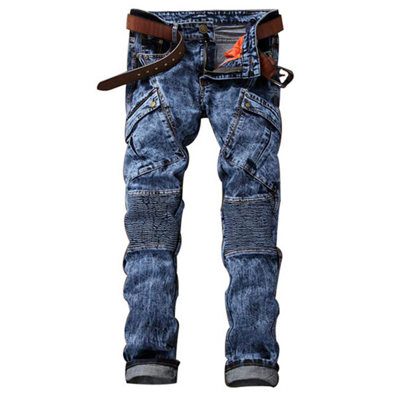 Brand New 2016 America Style Jeans Mens Joggers Male Hot Jeans For Biker Jeans Men Casual Slim Straight Trousers Free Shipping new 2017 brand men s jeans casual straight hole men jeans men denim trousers biker jeans free shipping