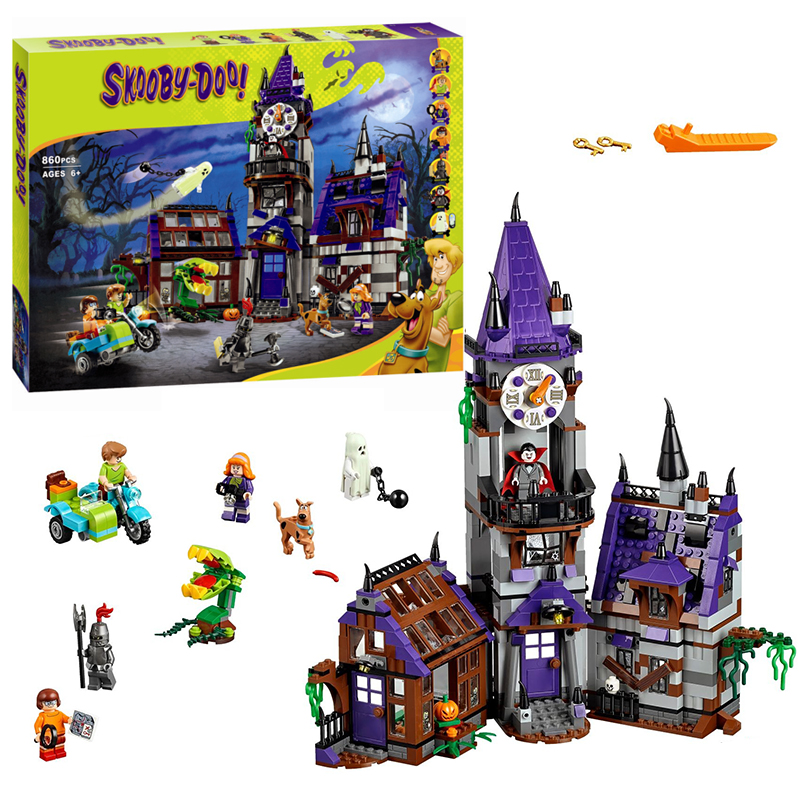 Bela 10432 Scooby-Doo Mystery Mansion building Blocks Bricks Toys Boy Game Model Car Gift Lorry Compatible with Lepin 75904