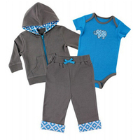 Newest Spring Baby Clothing Set Boy Girl Sport Leisure Suit Coat Bodysuit Pants 3 PCS Children