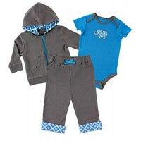 Più recente Primavera Neonati Girs Vestiti Neonato Vestiti Del Bambino Set Sport Leisure Suit Coat + Tuta + Pants 3 PZ vestito di Abbigliamento di Vendita