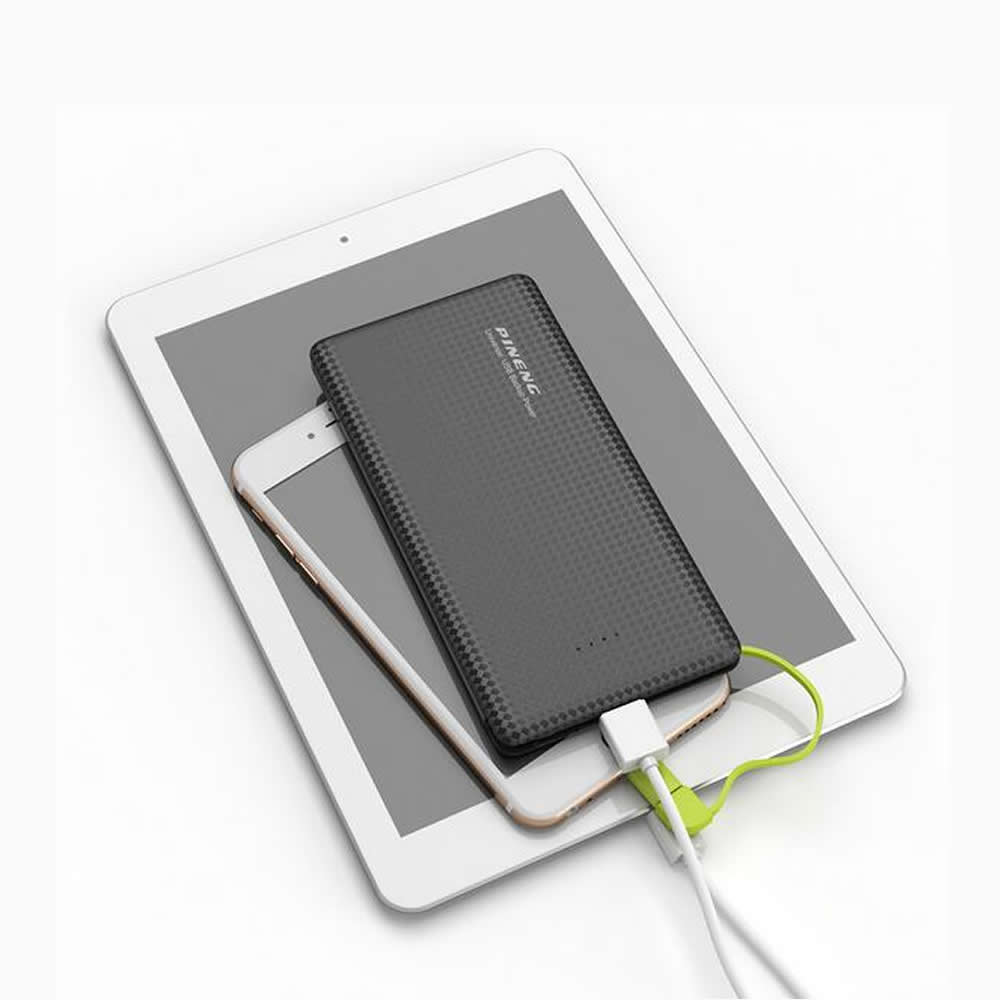 Image 5 - Original Pineng PN951 Power Bank 10000mAh USB BuiltIn Charging Cable External Battery Charger for iPhone8/X Samsung Xiaomi-in Power Bank from Cellphones & Telecommunications