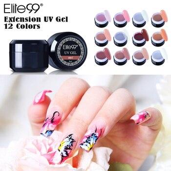 Elite99 UV Builder Gel Nagel Finger Verlängerung Nagellack Französisch Gel Nagel Verlängerung Gele Starke Builder Gel Natürliche Camouflage UV