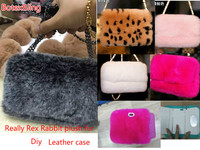 for iphone XS MAX Case fluffy plush fur leather case for iphone X XR 7 7plus 6 6s plus 8 8plus Messenger chain cover Flip Purse