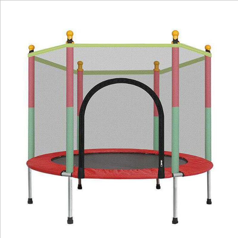 Children's Home Indoor Trampoline Baby with Protection Net Jumping Bed Adult Fitness Spring Outdoor Trampoline Bounce Bed amusement jumping trampoline children square jumping bed kids trampoline park trampoline playground