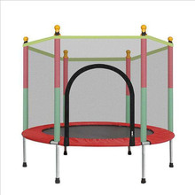 Children's Home Indoor Trampoline Baby with Protection Net Jumping Bed Adult Fitness Spring Outdoor Trampoline Bounce Bed цена в Москве и Питере