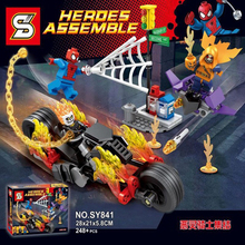 2017 New Hot Sale SY842 Marvel Super Heroes Batman And the Crocodile Killer Wars Building Blocks Bricks Kids Baby Gift Toys