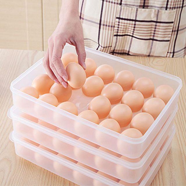 Contenedor de huevos caja de almacenamiento 24 bilayer cesta de ...