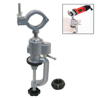 YEODA Clamp on Bench Vises Holder Fit Mini Electric Drill Stand Grinder Bracket For Dremel 3000 Woodworking Accessories
