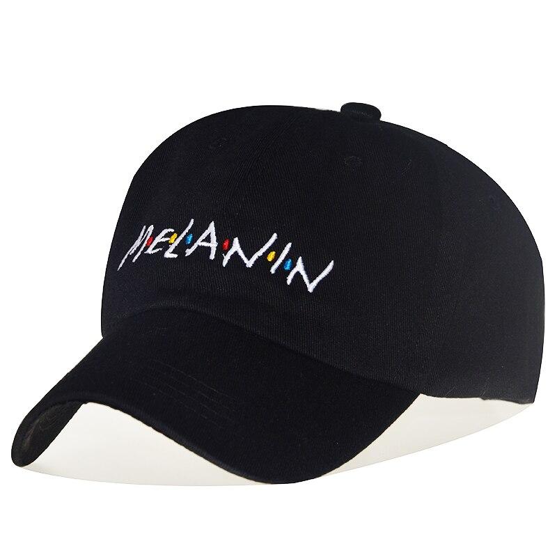 High Quality Cotton MELANIN Adjustable Solid Color Baseball Cap Unisex Couple Cap Fashion Dad HAT Snapback Cap