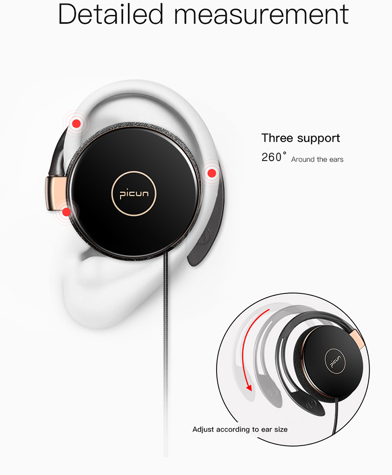 Original Picun L1 New Stereo Earphone Wired Sports Earphone Airpods FOE De Ouvido For iPhone X Samsung Note 8 HTC LG Xiaomi O (1)