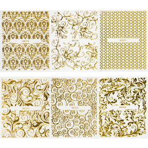 Image 3 - 20แผ่นทอง3dสติกเกอร์เล็บสติ๊กเกอร์Decalsแบบผสมกาวดอกไม้ตกแต่งเล็บSalonอุปกรณ์เสริมLAAD301 326