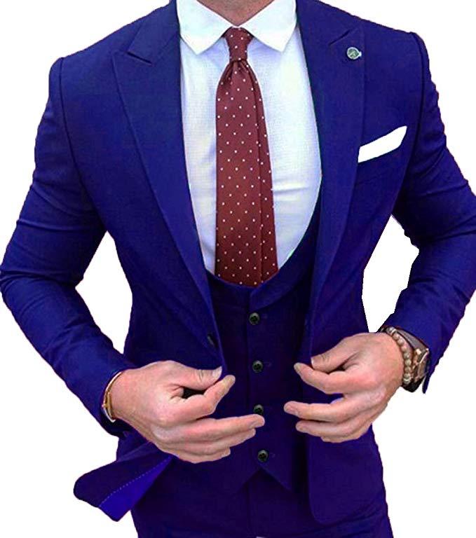 Handsome Groomsmen Shawl Lapel Groom Tuxedos Mens Wedding Dress Man Jacket Blazer Prom Dinner (Jacket+Pants+Tie+Vest) A09