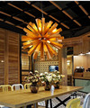 Деревянный Одуванчик  подвесной светильник  сферическая деревянная лампа-капля  светодиодная лампа sala madera techo lustres de sala для внутреннего укра...