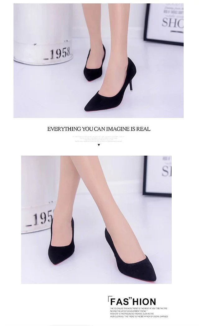 Hot Selling Women Shoes Pointed Toe Pumps Patent Leather Dress Red 8CM High Heels Boat Shoes Shadow Wedding Shoes Zapatos Mujer 4