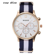 snowshine 10 font b Luxury b font Fashion Canvas Mens Analog Watch Wrist Watches free shipping