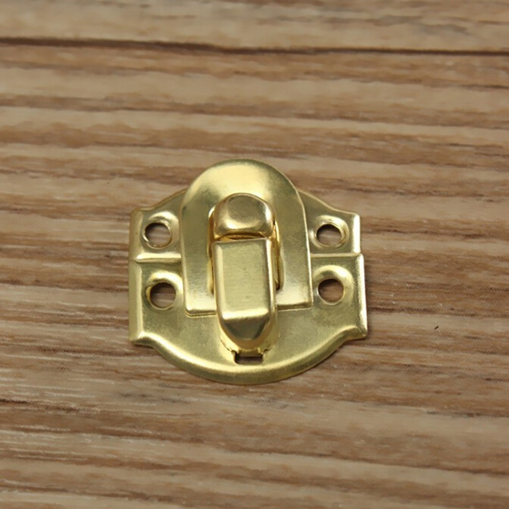 Cheap 12Pcs Golden Wine box Jewelry box hardware Latch Box lock Buckles wooden box Hasp lock economy and durability image