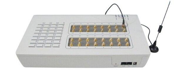 Passerelle SIM Quad Band 32 xGSM-adaptateur téléphone IP SIP GoIP-32-antenne externe 32 canaux