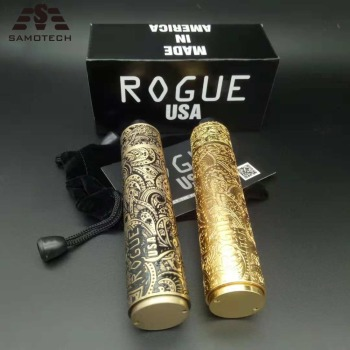 Best Vape E Cigarette Mechanical Mod Rogue Mod Kit High Quality Carved brass Material 18650 Battery Mechanical Mods vape pen 2018 newest high quality get low mod v2 glm v2 mech mod brass copper 18650 mechanical vape mod top quality free shipping